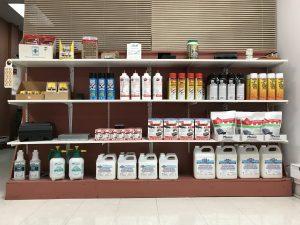 Inventaire des produits d'extermination en magasin